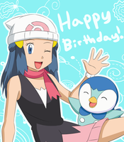 BDGift: Dawn and Piplup by adricarra