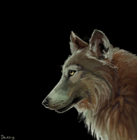 Wolf Speedpaint by Daesiy