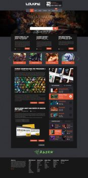 LoL King Website by luciano-infanti