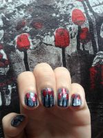 Concert nails (3 Days Grace 7.6.13) by wittlecabbage