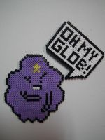 Lumpy Space Princess and Speech Bubble Magnets by blargofdoom