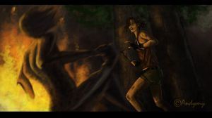 Tomb Raider 9 - The Fight by Andymy