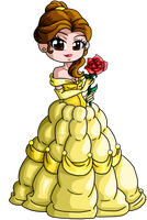 Ball gown Belle bookmark by Rena-Muffin