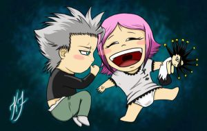 Hitsugaya and Yachiru by Zorin-Demontie