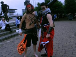 Jecht and Auron at May Expo by leumas11