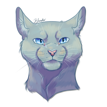 Bluestar, Leader of Thunderclan by Coeuralma