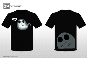 Bloop Ghost - T-shirt version by CheesecakefoEveryone