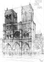 Notre Dame de Paris [architecture] by IceRider098