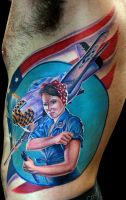 rosie the riveter by tat2istcecil