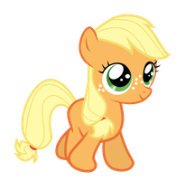 Applejack Filly by Serenawyr