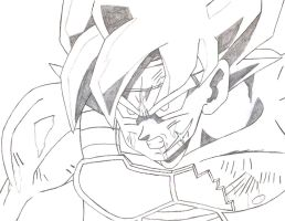 Bardock! The Legendary Super Saiyan!! - Line-Art by Kaizer617