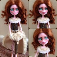 Ginger - Monster high repaint by Sonkisonki