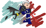 Chibi David N Cass ''coming home'' by Scintillant-H