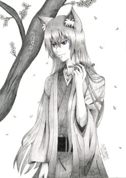 Tomoe with smoking-pipe by magoleth