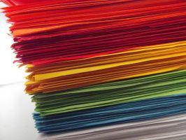 Coloured paper. by Raleee