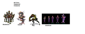My Fave Oddworld Creatures by RudyThePhoenix
