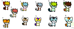 Giant Kitty Batch Adopts. - CLOSED. by Adoptables-Hub
