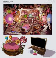 killer is dead candy room concept art by Tonyholmsten