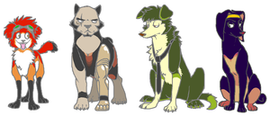 Bebop Dogs by HedgehogBeeblebrox