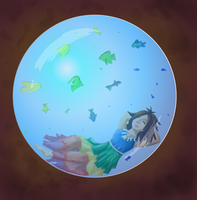In her happy bubble by saraistarr