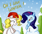 Surprise and Sparkler in Snow by SouthParkTaoist