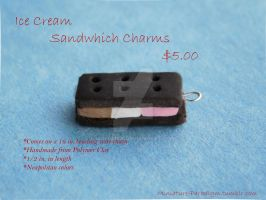 Neapolitan Ice Cream Sandwich Charm by Wintaria