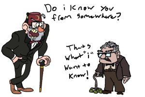 Grunkle Stan's long-lost cousin? by CartoonyStuff