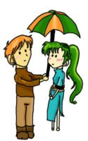 FE: Kent + Lyn- Umbrella by zebracornucopia