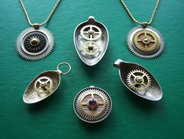 Clockpunk pendants 9 by Astalo