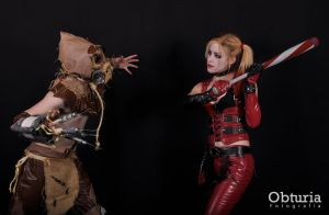Harley vs. Scarecrow by LeanAndJess