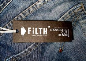 'filth' denim tag by newblood
