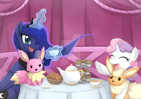 Sweetie Belle's Tea Party: by Jinzhan by MagicaITrevor