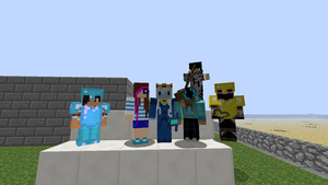 Me and my fellow Minecrfaters by Cakeisacat9001