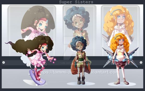 Super Sisters : AUCTION : OPEN 3/3 by Tammi-Adopts