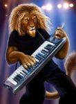 Lion on the Keytar by Viergacht