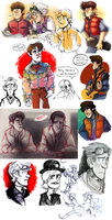 Back to the Future doodle dump by SIIINS