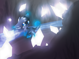 Icy Crystal cave by vaporeonshit