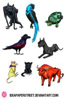 batfamily of critters by fruitionpaper