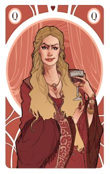 Game of Thrones' cards | Queen Cersei Lannister by SimonaBonafiniDA