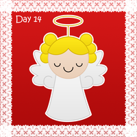 Christmas day 14: christmas angel by to-much-a-thing