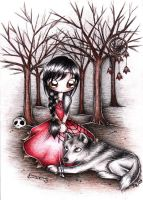 Girl and the wolf by MoonlightPrincess