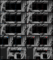 Pure Black Glass Blue, Red Theme Win10 Creators by Cleodesktop