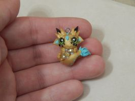 Gold Baby Dragon Necklace by XDtheBEASTXD