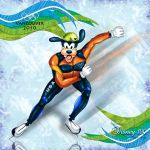 Goofy on Ice by errantscarecrow