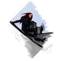 Hawkeye and Black Widow - I'll Cover You by nottonyharrison