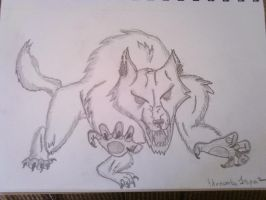 Werewolf Sketch by thenumba1spaz