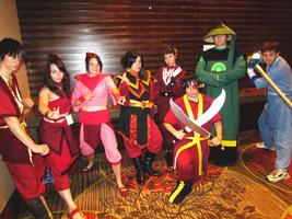 Fire Nation cosplayers by clockworkcosplay