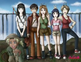 Love Hina at Victoria Falls by grandchaosSR