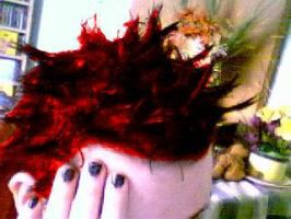 flame red hair by murderdoll666