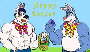 Happy Easter from Mike and Biff by CaseyLJones